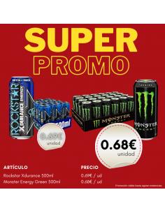 Promo Monster Verde + Rockstar